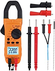 Proster Digital Clamp Meter Auto-Ranging Multimeter TRMS 6000 Counts with NCV AC/DC Voltage Current Continuity Capacitance Resistance Frequency Diode Temperature Hz Non-Contact AC Voltage