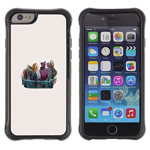 Pulsar iFace Series Soft TPU Skin Bumper Case Cover for Apple iPhone 6+ Plus(5.5 inches) , Man Fountain Art Painting Nature Colorful