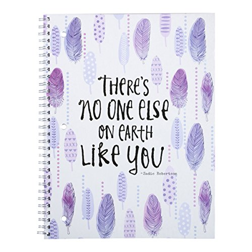 dayspring-sadie-robertsons-spiral-bound-notebook-theres-no-one-else-on-earth-like-you