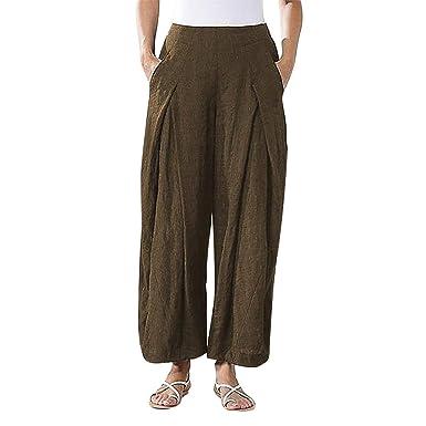 Caixukun - Pantalones de mujer Plus Size Harén Pantalones con ...