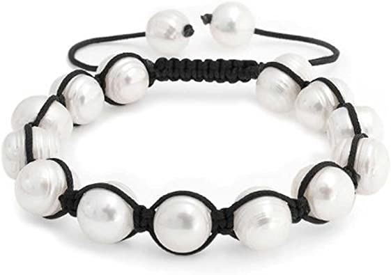 Men Women Round Ball Beads Shamballa Bracelet Wrap Bangle Jewelry Gift