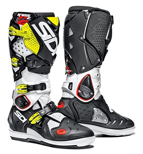 Offroad Boots White Black Yellow (US 9.5) (2 Off Road Boot)