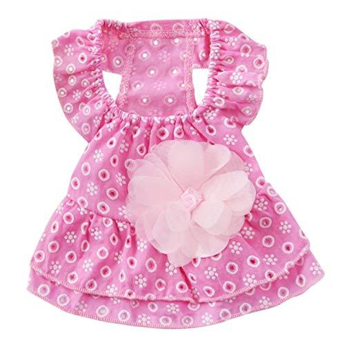 Denim Dachshund Shirt Miniature (Jim-Hugh Dog Lace Princess Dress Pet Clothes Spring Small Skirt Summer Thin Section Romantic Wave Point Gauze Skirt)
