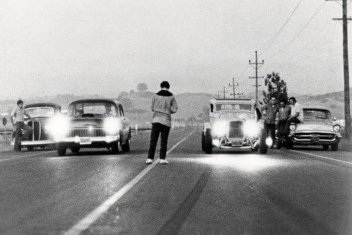 American Graffiti Hot Rod Drag Race Scene Deuce Coupe 55 Chevy 60 x 91 cm