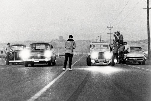 American Graffiti classic hot rod drag race scene Milner's '32 Ford Coupe & Falfa's '55 Chevy 24x36 Poster Silverscreen