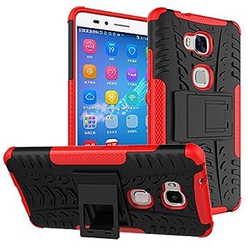 Huawei Honor 5X/GR5 Funda,360 Grados Protección A Prueba de Choques Cubierta 2in1 TPC Silicona Carcasa Skin Case Cover Compatible Huawei Honor 5X/GR5 ...