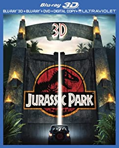 Cover Image for 'Jurassic Park 3D (3D Blu-ray + Blu-ray + DVD + Digital Copy + UltraViolet)'
