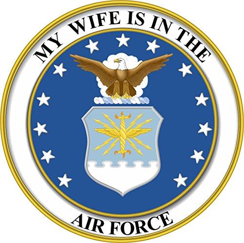- Magnet My Wife is in The US Air Force Seal Pride Vinyl Magnet Military Veteran Served Car Bumper Sticker Magnetic Vinyl 3.8
