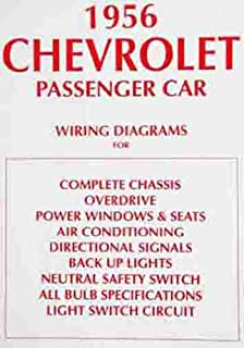 1956 chevrolet cars complete set of factory electrical wiring diagrams &  schematics guide 4 pages -