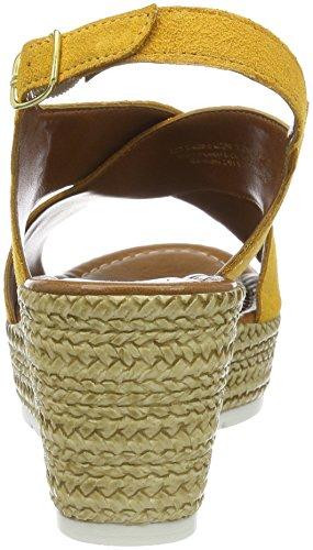 Marco Tozzi Premio 28362, Sandalias con Cuña Para Mujer Amarillo (Sun 602)