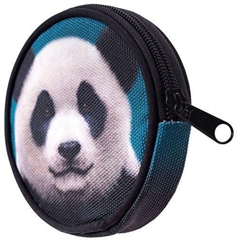 Kukubird Varia Impresión Monedero Billetera Con Bolsa De Polvo De Kukubird Panda