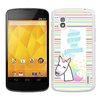allgadgets Funda Carcasa para LG Nexus 4 diseño Frase Nunca ...