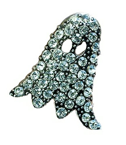 Seasons Jewelry Magnetic Clasp Silver-Plated Pendant (Crystal Ghost Pin/Pendant)