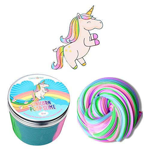 Twinkle Unicorn Unicorn Poop Slime, Large Size 10 oz, Fluffy Slime, Unicorn Poop, Rainbow Poop Slime -