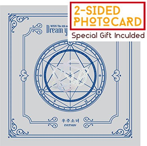 WJSN COSMIC GIRLS - Dream your dream (4th Mini Album) [Silver(ενυπνιον) Ver.] CD+Booklet+Official Photocard+Folded Poster+Pre-order benefit(Official Bookmark)+Free Gift(Special Double-sided Photocard) - Girl Mini Photo Album