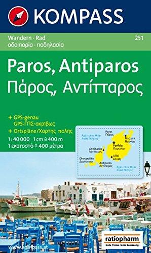Paros - Antiparos: Wanderkarte mit Radrouten. GPS-genau. 1:40000 (KOMPASS-Wanderkarten, Band 251)