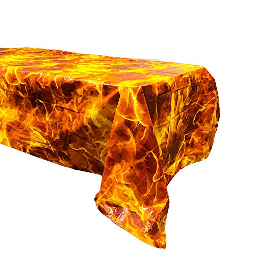 Fire Table Covers (2), Fire Party Supplies, Fire Table Setting]()