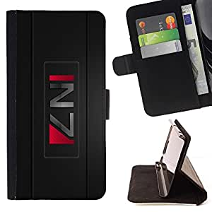 For Apple Iphone 5 / 5S Commander Sheppard Effect Game Beautiful Print Wallet Leather Case Cover With Credit Card Slots And Stand Function