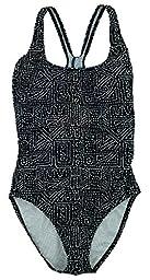 Speedo Womens Ultraback One Piece Swimsuit (10, Black/White Dots)