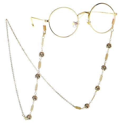 Zengqhui Lady Gafas de Cadena Cadenas de Gafas para Mujeres ...