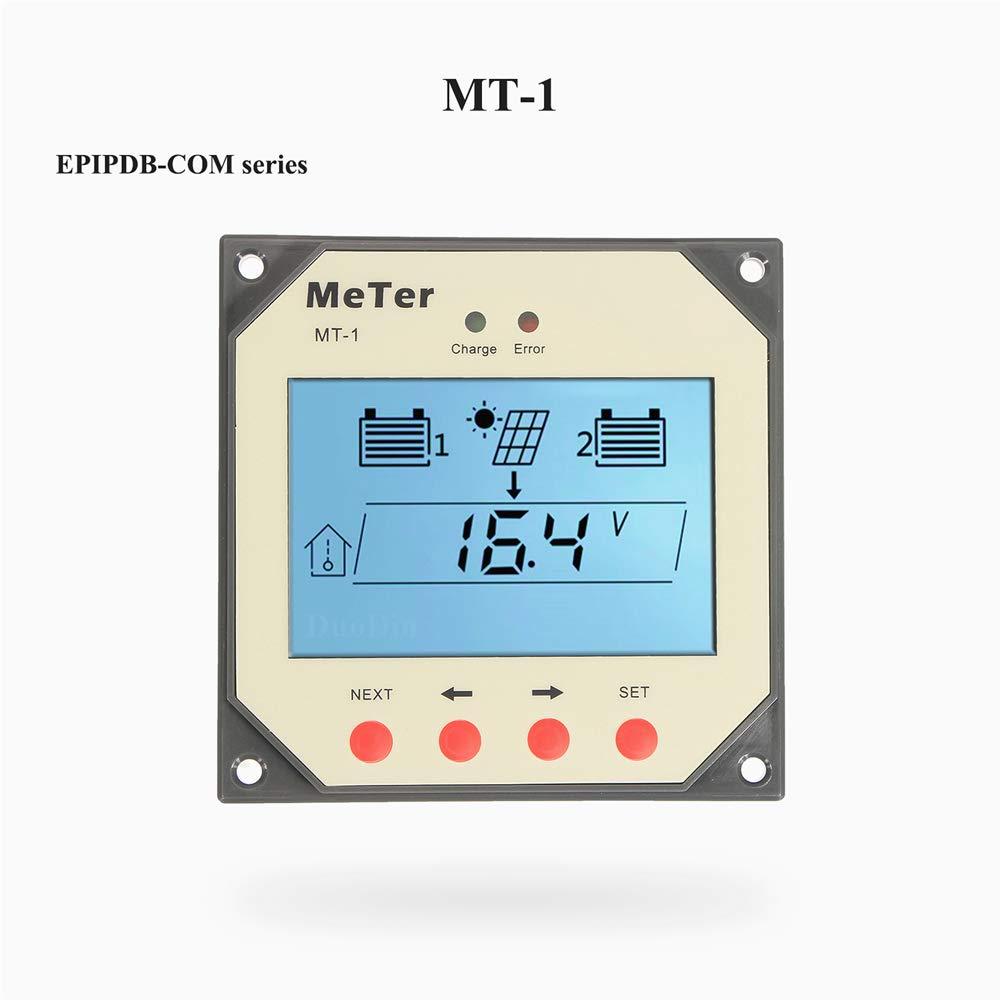 EPEVER/® 10A Solar Charge Controller 12V//24V for Duo-Battery Charging Solar Controller with LED Indicator for RVs Caravans and Boats EPIPDB-COM-10