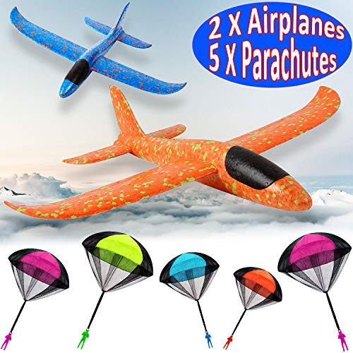(7 Pack Toy Airplane Glider for Kids, 2P 13.5