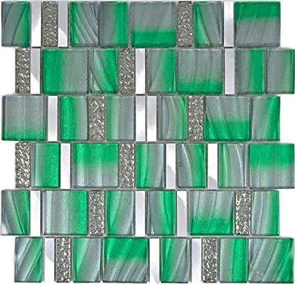 Mosaïque en aluminium - Vert - Pour la cuisine, la salle de ...