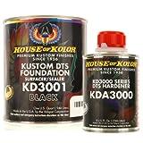 House of Kolor QUART KIT BLACK Color KD3000 DTS Surfacer / Sealer w/ Hardener
