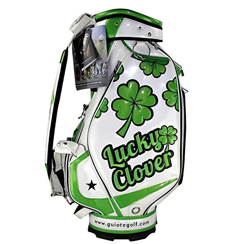 Guiote Golf Staff Bag (10 Inch Top Lucky Clover)