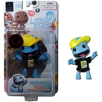 Mezco Toyz Little Big Planet 2011 Con Exclusive Blue Denim Sackboy with Baseball Hat TShirt  sc 1 st  Amazon.com & Amazon.com: LittleBigPlanet Sackboy Full Head Pillow: Toys u0026 Games
