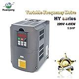 VFD 220V 4.0KW 5hp Variable Frequency Drive CNC VFD Motor Drive Inverter Converter for Spindle Motor Speed Control HUANYANG HY-Series(4.0KW, 220V)