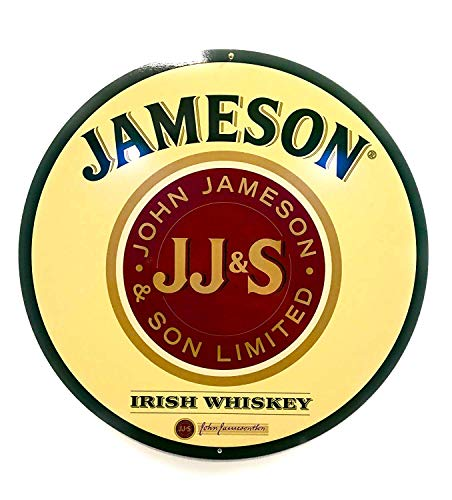 JJ&S Jameson Irish Whiskey Sign 14 inch Diameter Aluminum Wall Sign