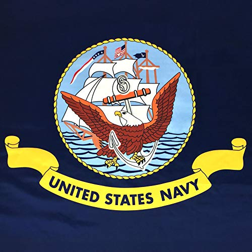 USA Flag Co. US Navy Flag is 100% American Made: The Best 3x5 Outdoor Armed Forces Flags, Made in The United States of America. (3 by 5 Foot) by USA Flag Co.