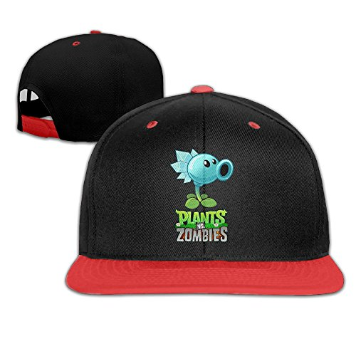 Crazy Dave's Plants Vs Zombies Costume (WYUZHEN Kid's Plants Vs. Zombies Hip-hop Snapback Hat Caps Red)