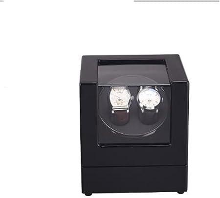 L-life Cajas giratorias Reloj de Mesa mecánico con Movimiento automático Reloj mecánico de rotación con Reloj Caja de exhibición de Cuero Negro: Amazon.es: Hogar