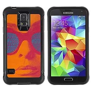 Suave TPU GEL Carcasa Funda Silicona Blando Estuche Caso de protección (para) Samsung Galaxy S5 V / CECELL Phone case / / Retro Vintage Text Teal Pink Lips Sun /