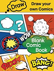 2019 GIFT IDEAS   ART BOOKS   BLANK COMIC BOOKS        The Blank Comic Book Notebook: Fun for all ages.       Draw your own Comics.        The helpful templates included perfect comic blank canvas to help inspire budding artists who li...