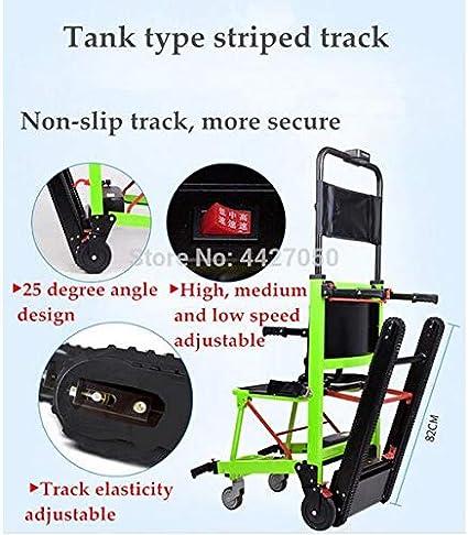 MEICHEN Nuevo diseño Ligero telesilla Silla de Ruedas eléctrica Subir escaleras eléctricas para discapacitados,Verde