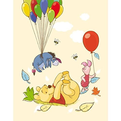 Winnie Pooh Fleecedecke gelb 130x170 cm Babydecke Schmusedecke