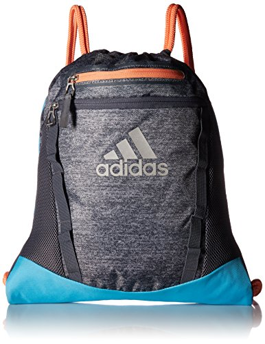 adidas Rumble II Sackpack, Onix Jersey/Bright Cyan/Onix/Chalk Coral, One ()