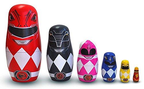 Power Rangers Wood Nesting Dolls