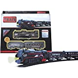 Skyzal Battery Operated Black Train Toy Set for Kids, Big Size Train Set for Kids   Bump and Go Musical Toy Train