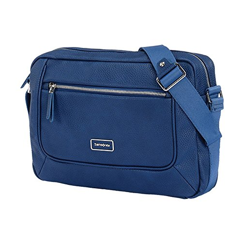 "Samsonite Majoris Shoulder Bag 10.1"" Borsa Messenger, ABS, Navy, 35 cm"
