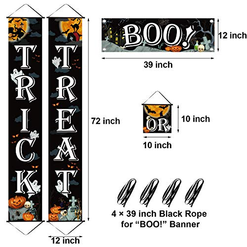 51OgvM22u8L - Chuangdi 4 Pieces Trick OR Treat Banner Halloween