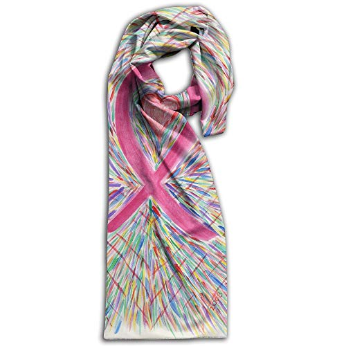 (Pink Ribbon Bookmarkoriginal Artwork Super Soft Classic Cashmere Pashmina Feel Winter Scarf)