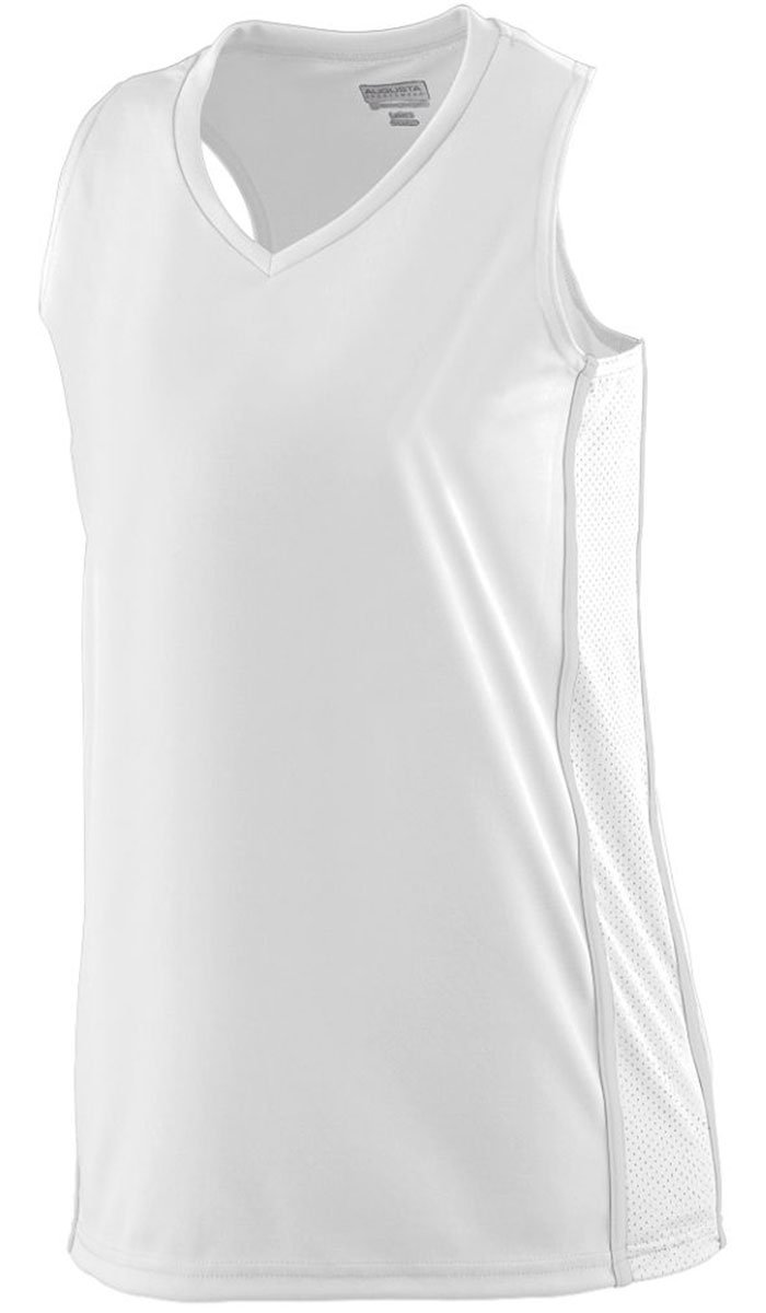 Augusta SportswearレディースWinning Streak Racerback Jersey B00HU4FKHW XX-Large ホワイト/ホワイト ホワイト/ホワイト XX-Large