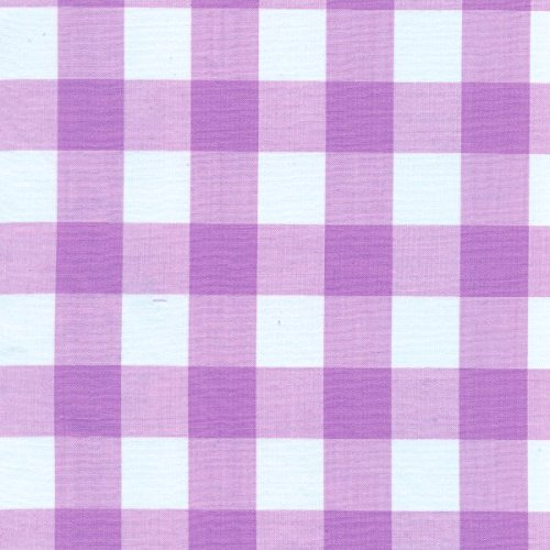 Lilac Gingham Check Fabric (1