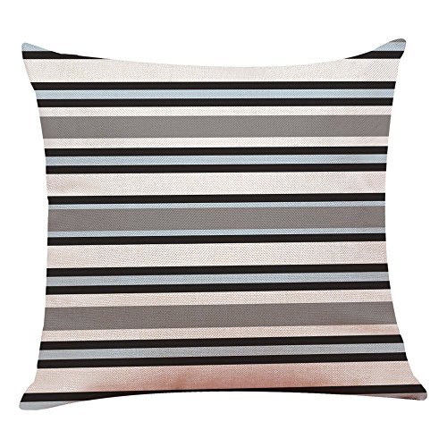 Geometric Print Simple Style Decorative Throw Pillow Cases for Sofa Bed Couch Home Cafe Decor Square Cushion Cover 18 x 18 Inch
