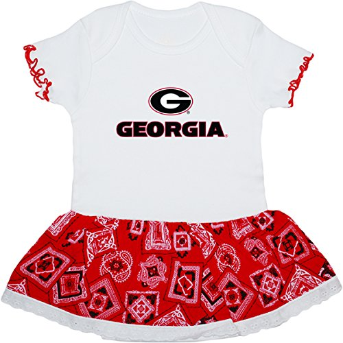 University of Georgia Bulldogs Circle G Baby Bandana Bodysuit Dress -