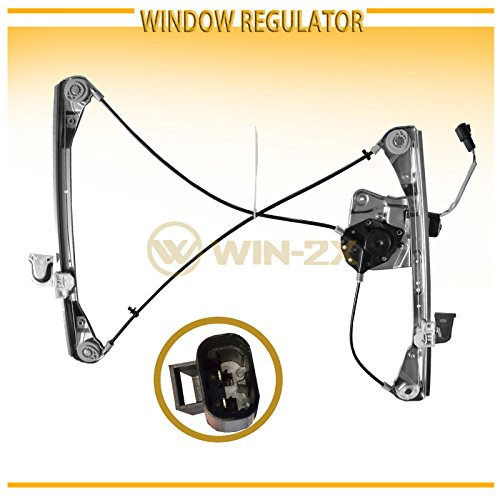 Front Pontiac Grand Am Door (WIN-2X New 1pc Front Driver (Left) Side Power Window Regulator & Motor Assembly Fit 99-04 Oldsmobile Alero 99-05 Pontiac Grand Am 2-Door Coupe With Electric Window Lifters)